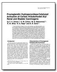 Prostaglandin Hydroperoxidase-Catalyzed ... by Wise, R. W.