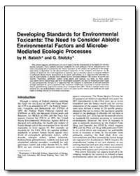 Developing Standards for Environmental T... by Babich, H.