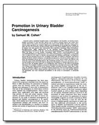 Promotion in Urinary Bladder Carcinogene... by Cohen, Samuel M.