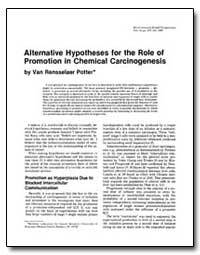 Alternative Hypotheses for the Role of P... by Potter, Van Rensselaer