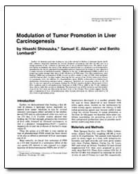 Modulation of Tumor Promotion in Liver C... by Shinozuka, Hisashi