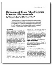 Hormones and Dietary Fat as Promoters in... by Dao, Thomas L.