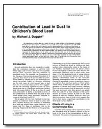 Contribution of Lead in Dust to Children... by Duggan, Michael J.
