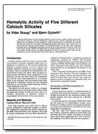 Hemolytic Activity of Five Different Cal... by Skaug, Vidar