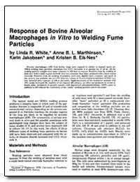 Response of Bovine Alveolar Macrophages ... by White, Linda R.