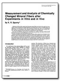 Measurement and Analysis of Chemically C... by Spurny, K. R.