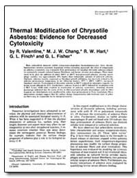 Thermal Modification of Chrysotile Asbes... by Valentine, R.