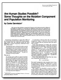 Are Human Studies Possible Some Thoughts... by Denniston, Carter