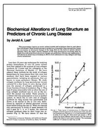 Biochemical Alterations of Lung Structur... by Last, Jerold A.