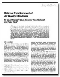 Rational Establishment of Air Quality St... by Pearce, David