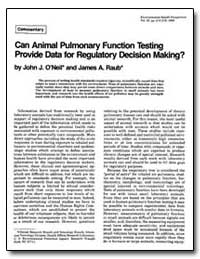 Can Animal Pulmonary Function Testing Pr... by Raub, James A.