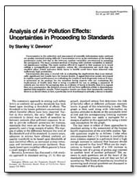 Analysis of Air Pollution Effects : Unce... by Dawson, Stanley V.