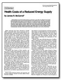 Health Costs of a Reduced Energy Supply by Mccarroll, James R.