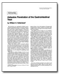 Asbestos Penetration of the Gastrointest... by Hallenbeck, William H.