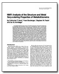 Nmr Analysis of the Structure and Metal ... by Fesik, Stephen W.
