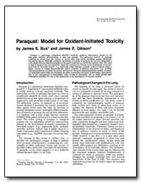 Paraquat : Model for Oxidant-Initiated T... by Bus, James S.