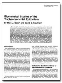 Biochemical Studies of the Tracheobronch... by Mass, Marc J.