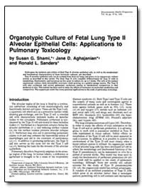 Organotypic Culture of Fetal Lung Type I... by Shami, Susan G.