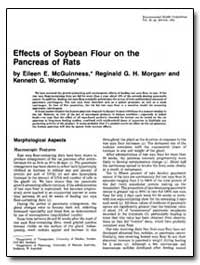 Effects of Soybean Flour on the Pancreas... by Mcguinness, Eileen E.