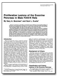 Proliferative Lesions of the Exocrine Pa... by Boorman, Gary A.