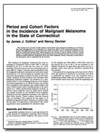 Period and Cohort Factors in the Inciden... by Collins, James J.