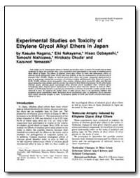 Experimental Studies on Toxicity of Ethy... by Nagano, Kasuke