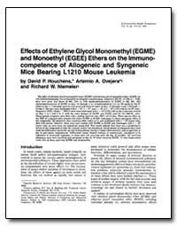 Effects of Ethylene Glycol Monomethyl (E... by Houchens, David P.