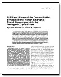 Inhibition of Intercellular Communicatio... by Welsch, Frank