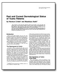 Past and Current Dermatological Status o... by Urabe, Harukuni