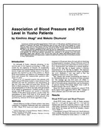 Association of Blood Pressure and Pcb Le... by Akagi, Kimihiro