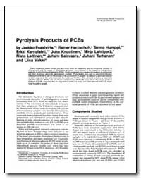 Pyrolysis Products of Pcbs by Paasivirta, Jaakko