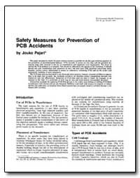 Safety Measures for Prevention of Pcb Ac... by Pajari, Jouko