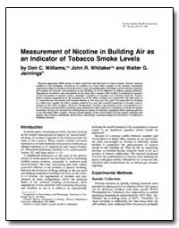 Measurement of Nicotine in Building Air ... by Whitaker, John R.