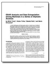 Qsar Analysis and Data Extrapolation Amo... by Tichy, Milon