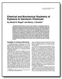 Chemical and Biochemical Dosimetry Of-Ex... by Wogan, Gerald N.