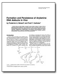Formation and Persistence of Arylamine D... by Beland, Frederick A.