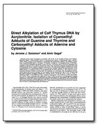 Direct Alkylation of Calf Thymus Dna by ... by Segal, Alvin