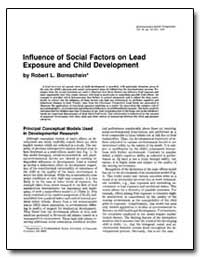 Influence of Social Factors on Lead Expo... by Bornschein, Robert L.