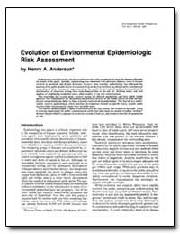 Evolution of Environmental Epidemiologic... by Anderson, Henry A.