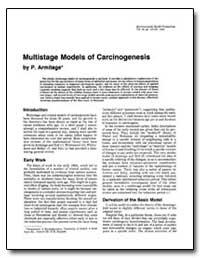 Multistage Models of Carcinogenesis by Armitage, P.
