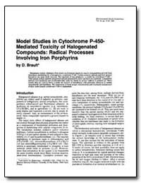 Model Studies in Cytochrome P-450- Media... by Brault, D.