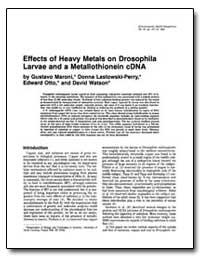 Effects of Heavy Metals on Drosophila La... by Maroni, Gustavo
