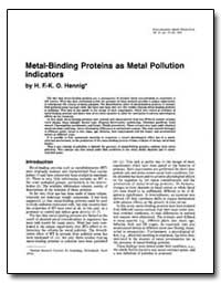 Metal-Binding Proteins as Metal Pollutio... by United Nations