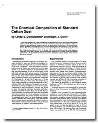 The Chemical Composition of Standard Cot... by Berni, Ralph J.
