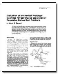 Evaluation of Mechanical Prototype Machi... by Deluca, Lloyd B.