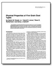 Physical Properties of Five Grain Dust T... by Parnel, Calvin B.