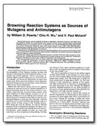 Browning Reaction Systems as Sources of ... by Powrie, William D.