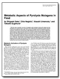 Metabolic Aspects of Pyrolysis Mutagens ... by Negish, Chie