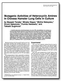 Mutagenic Activities of Heterocyclic Ami... by Terada, Masaaki