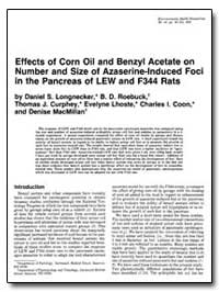 Effects of Corn Oil and Benzyl Acetate o... by Longnecker, Daniel S.